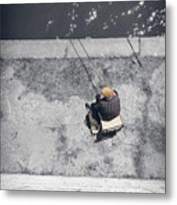 Loneliness Of A Fisherman Metal Print by Stwayne Keubrick