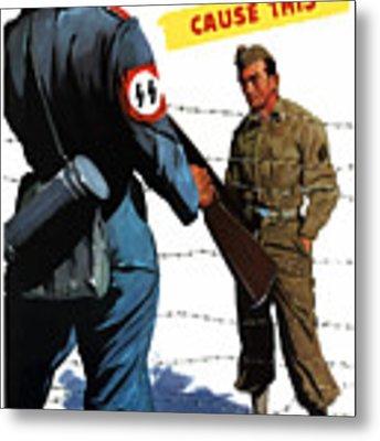 Loose Talk Can Cause -- Ww2 Propaganda Metal Print