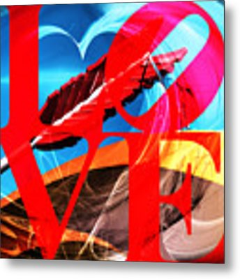Love Swirls At The San Francisco Cupids Span Sculpture Dsc1819 Metal Print by Wingsdomain Art and Photography