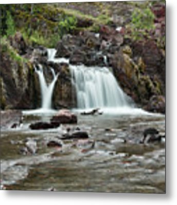 Lower Red Rocks Falls Metal Print by Jemmy Archer