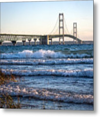 Mackinac Bridge Michigan Metal Print by Mary Lee Dereske