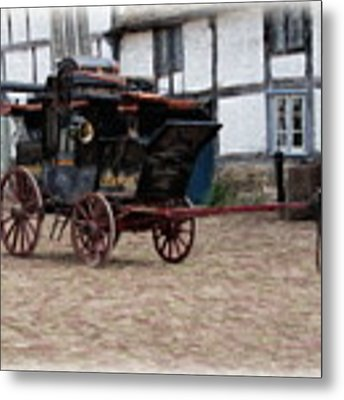 Mail Coach At Lacock Metal Print by Paul Gulliver