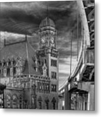 Main Street Station Nw B W Metal Print by Jemmy Archer
