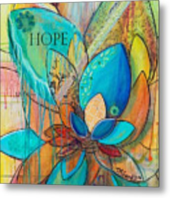 Spirit Lotus With Hope Metal Print by TM Gand