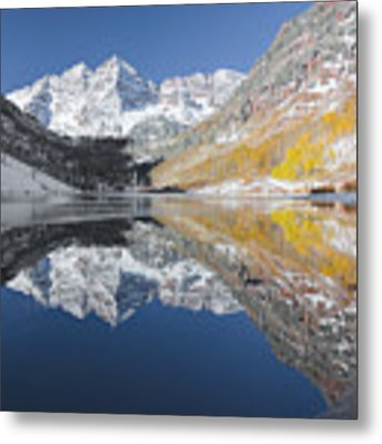 Maroon Bells Mirror Metal Print by Jemmy Archer