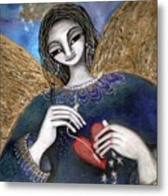 Mender Of Hearts Angel Metal Print by Prerna Poojara