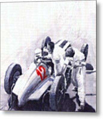 Mercedes Benz W125 Rudolf Caracciola The German Grand Prix Nurburgring 1937  Metal Print by Yuriy Shevchuk