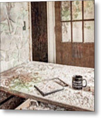 Midlife Crisis In Progress - Abandoned Asylum Metal Print by Gary Heller