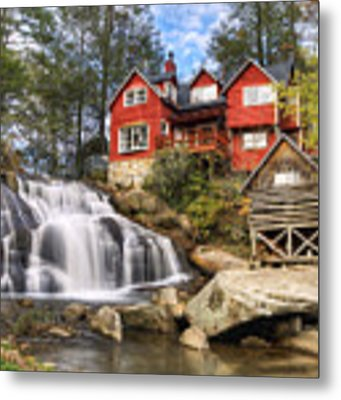 Mill Shoals Falls - Wnc Blue Ridge Waterfalls Metal Print