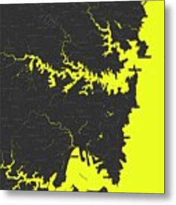 Minimalist Modern Map Of Sydney, Australia 8 Metal Print by Celestial Images