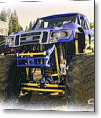 Monster Truck At The Fair Metal Print by William Havle