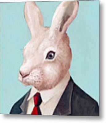 Mr Rabbit Metal Print by Animal Crew