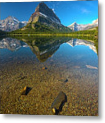 Mt. Grinnell Metal Print by Gary Lengyel