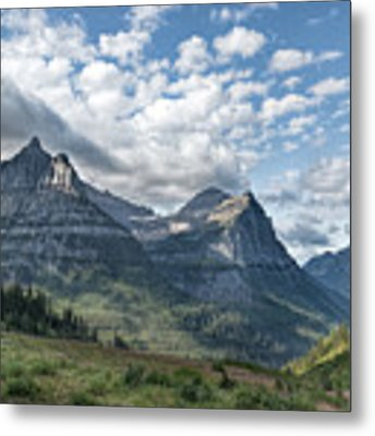 Mt. Oberlin From Logan Pass Metal Print by Jemmy Archer