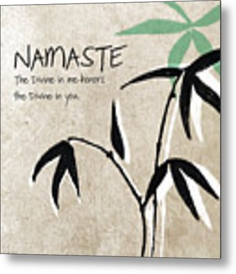 Namaste Metal Print by Linda Woods