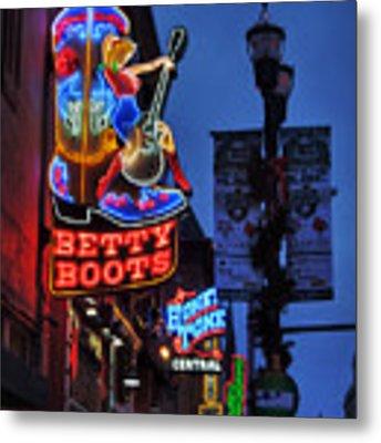 Nashville - Broadway 002 Metal Print by Lance Vaughn