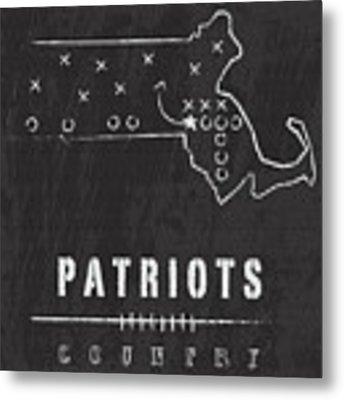 New England Patriots Art - Nfl Football Wall Print Metal Print by Damon Gray