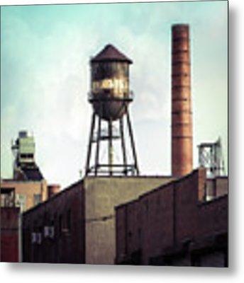 New York Water Towers 19 - Urban Industrial Art Photography Metal Print by Gary Heller