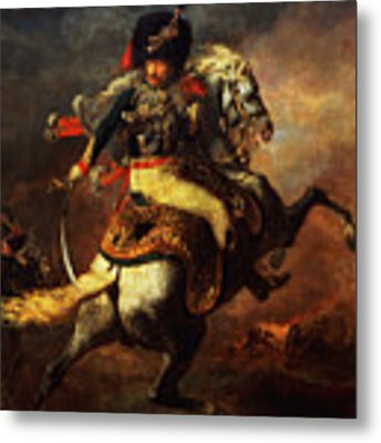 Officer Of The Hussars Metal Print by Theodore Gericault