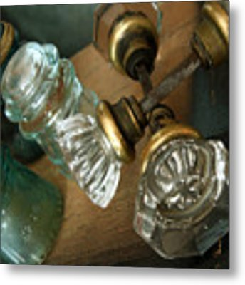 Old Glass Metal Print by Delight Worthyn