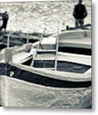 Old Man And Boat Metal Print by Silvia Ganora