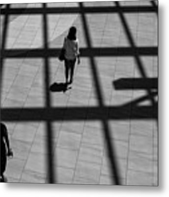 On The Grid Metal Print by Eric Lake