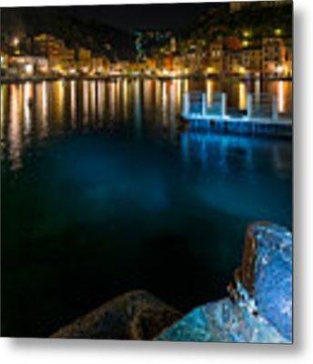One Night In Portofino - Una Notte A Portofino Metal Print by Enrico Pelos