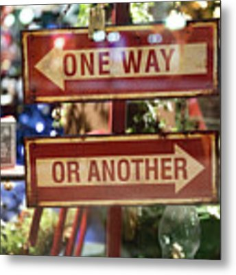 One Way Or Another Metal Print by Angela Moyer