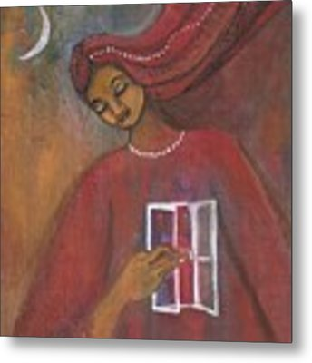 Open The Windows To Your Soul Metal Print by Prerna Poojara