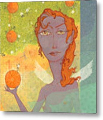 Orange Angel 1 Metal Print by Dennis Wunsch