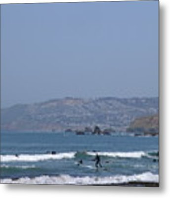 Pacifica Surfing Metal Print by Cynthia Marcopulos