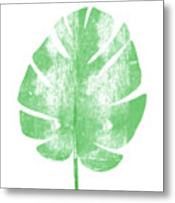 Palm Leaf- Art By Linda Woods Metal Print by Linda Woods