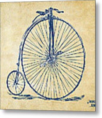 Penny-farthing 1867 High Wheeler Bicycle Vintage Metal Print