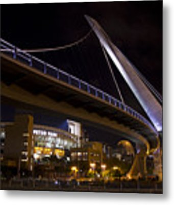 Petco Park And The Pedestrian Bridge Metal Print by Nathan Rupert