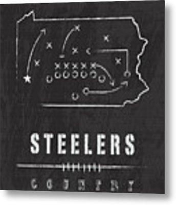 Pittsburgh Steelers Art - Nfl Football Wall Print Metal Print by Damon Gray