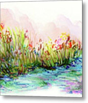 Sunrise Pond Metal Print by Lauren Heller