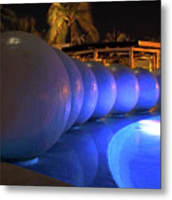 Pool Balls At Night Metal Print by Shane Bechler