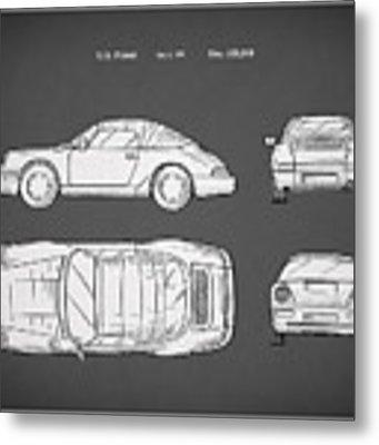 Porsche 911 Cabriolet Patent Metal Print