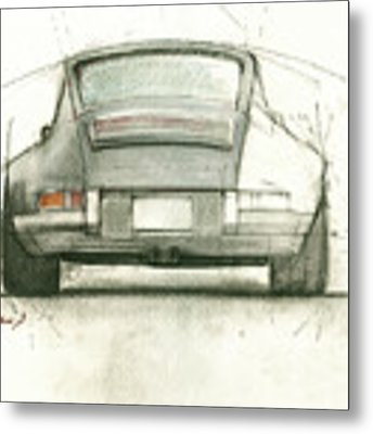 Porsche 911 Rs Metal Print by Juan Bosco
