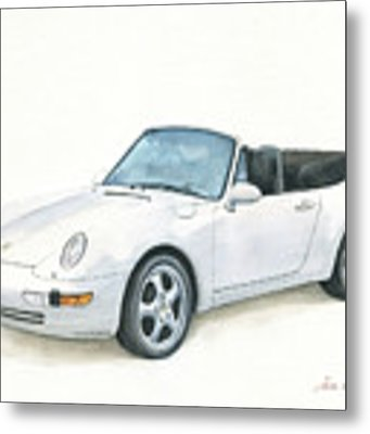 Porsche 993 Cabrio Metal Print by Juan Bosco