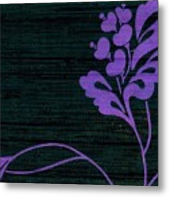 Purple Glamour On Black Weave Metal Print by Writermore Arts