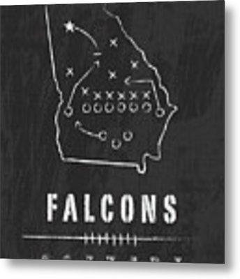 Atlanta Falcons Art - Nfl Football Wall Print Metal Print by Damon Gray