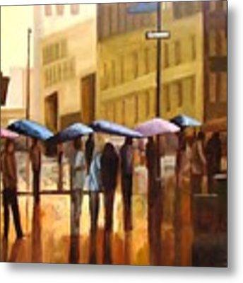 Rain In Manhattan Number Seventeen Metal Print