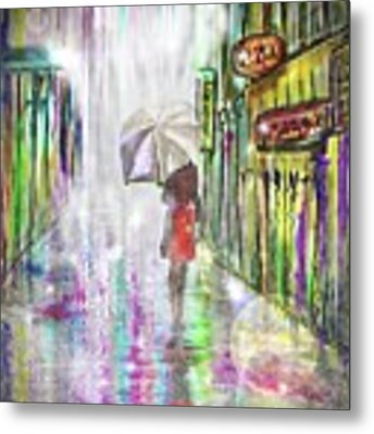 Rainy Paris Day Metal Print by Darren Cannell