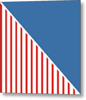 Red White And Blue Triangles Metal Print by Linda Woods
