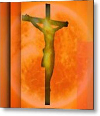 Redish Environmet Crucifixion, Metal Print by Alberto RuiZ