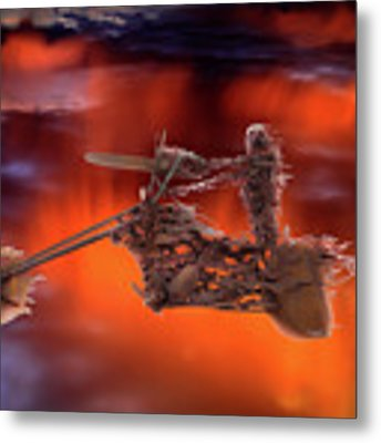 Rider In The Sky Metal Print by Shane Bechler