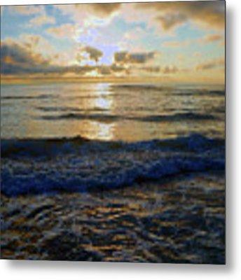 Rockaway Sunset #3 Enhanced Metal Print by Ben Upham III