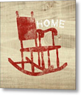 Rocking Chair Home- Art By Linda Woods Metal Print by Linda Woods