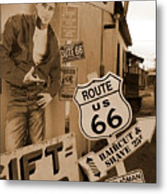 Route 66 - Signs Metal Print by Mike McGlothlen